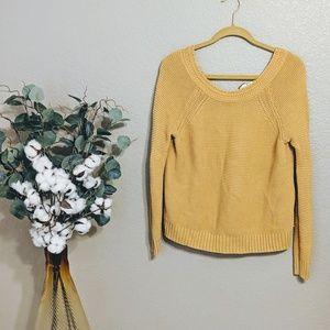 Roxy Yellow Knit Long Sleeve Sweater Sz XS
